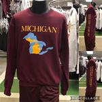 Michigan Great Lakes State Crewneck sweatshirt-MAROON