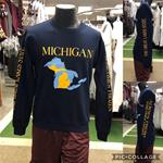 Michigan Great Lakes State Crewneck sweatshirt-NAVY
