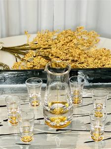 Golden Age 24K Decanter and Six Shot Glasses Set