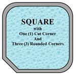 08 - Square Spa w/ One Cut Corner - 3 Rounded Corners