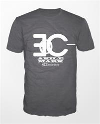 Akile Mark Grey T-Shirt with White Logo