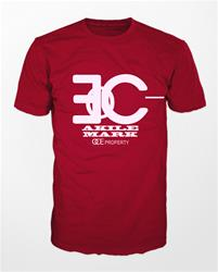 Akile Mark Red T-Shirt with White Logo