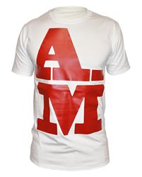 Akile Mark A-M Red Logo White T-Shirt