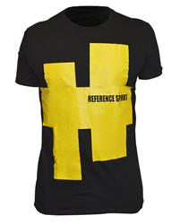 Reference Sport Yellow Achtag Logo Black T-Shirt