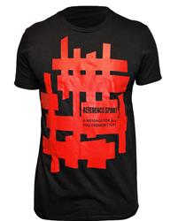 Reference Sport Red Mazes Logo Black T-Shirt
