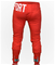Men red cotton sweatpants with design pocket.