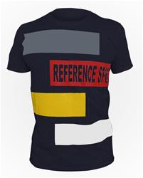 Dark Blue Reference Sport Box Logo Cotton T-Shirt