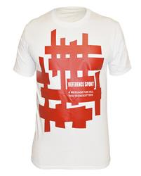 Reference Sport Red Mazes Logo White T-Shirt