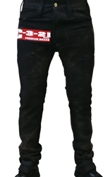 C-3-21 Soft Wash Black Denim with Logo