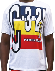C-3-21 Big Letters On Numbers Print T-shirt