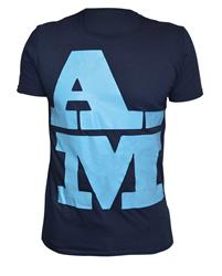 Akile Mark A-M Blue Cotton T-Shirt