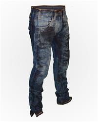 Dark Reference Sport Wash Slim-Fit Denim w/ Paint on Front
