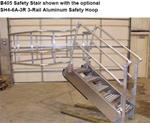 Safety Stair with Optional Aluminum Safety Hoop