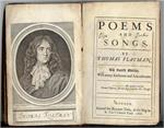1682 Poems & Songs. By Thomas Flatman. The Third Edition.