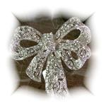 GORGEOUS RINESTONE BOW BROOCH
