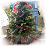 CHRISTMAS TREE IN OLD FLOUR SIFTER