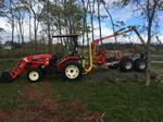 Branson/Kranman 8 wheel drive and Awesome log loader/trailer