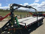 Hiway Trailer with log loader slightly used Honda Power unit