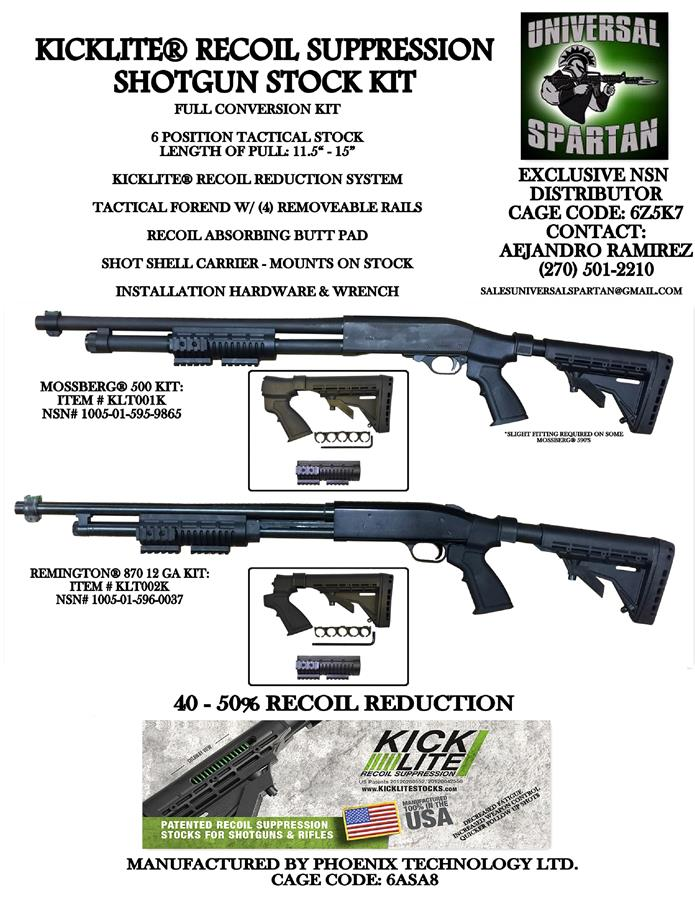 KICKLITE® TACTICAL STOCK PACKAGE-REMINGTON® 870 12 GA