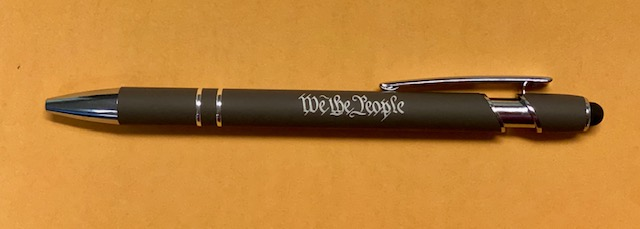 PEN WITH STYLUS 'We The People'
