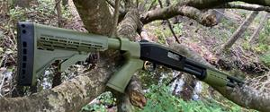 KickLite recoil reduction 6 position shotgun STOCK & FOREND  for REMINGTON 870 12 GA.. in 'Woods Edge Green'