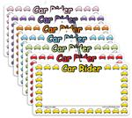 2) Car Rider Visor Sign - Pack of 50 - Item# 7575