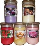 Candles, Soy Vegetable (Glass Jars + Apothecary Lids)