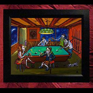 Collectors Canvas Giclee - 'Billiard Room Buddies'