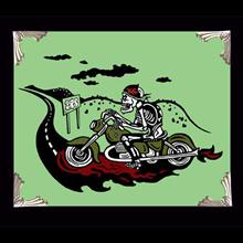 Archival Paper Art Print- Framed 'Biker Guy Green'