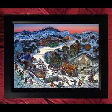 "Collectors Canvas Giclee - 30"" x 40"" 'Christmas Town'"