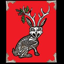 Archival Paper Art Print- Framed 'Jolly Jackalope'