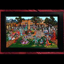 "Collectors Canvas Giclee 30"" X 50"" 'Plaza Fiesta'"