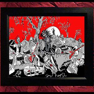 Collectors Canvas Giclee - 'She Rocks the Dead'