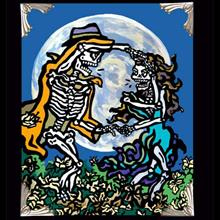 Archival Paper Art Print- Framed 'Dance with the Moon'