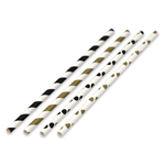 "7.75""x.25"" Holiday Pack Paper Straws"