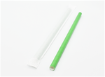 "10""x.40"" Green Paper Smoothie / Milk Shake Straw with Sleeve"