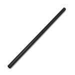 "8.25""x.31"" PLA Straight Plastic Alternative Black Straw for Thick Drinks"