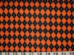 Black Orange Argyle