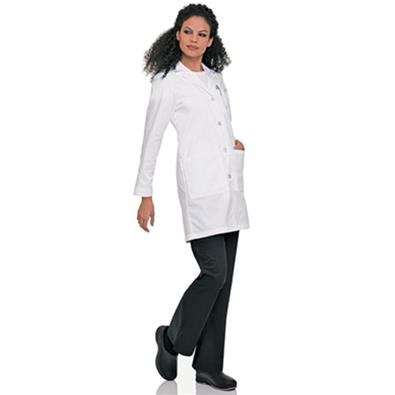 3153 - WOMENS LABCOAT WITH FOUR BUTTON CLOSURE