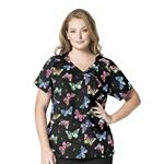 6215 Plus Size - Printed Mock Wrap Top