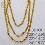 GOLD CHAIN SD 18K  SIZE 20""