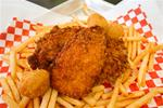 Basket-Bourbon Fried Chicken