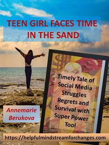 """Teen Girl Faces Time in the Sand"""
