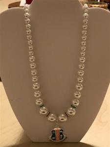 Pearl Necklace with Sorority Dangle