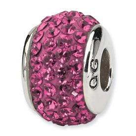 Sterling Silver Swarovski Crystal Bead-OCT