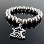 Silver Star Stretch Bracelet