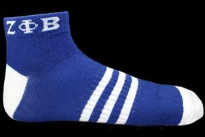 Zeta Phi Beta Ankle Socks-Blue