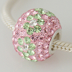 Pink and Green Mini Colossal Crystal Bead