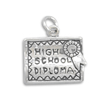 Sterling Silver High School Degree Charm