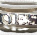 Sterling Silver OES Small Block Ring